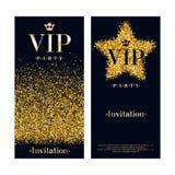 VIP zaproszenia karty premii projekta szablon Obrazy Royalty Free