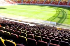 Vip-zon på nationell arenastadion Arkivfoto