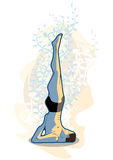 Viparitakarani van de yoga Stock Afbeelding