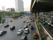 Vipawadee Road, Bangkok, Thailand-May 16,2019 Traffic Jam on the high way stock photography