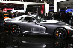 Viper at the Auto Show Stock Image