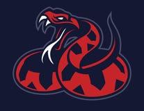 Viper snake mascot. Vector of viper snake mascot royalty free illustration