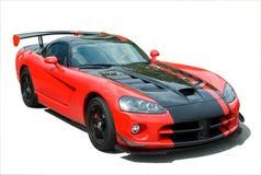 Vipera rossa dell'automobile sportiva Fotografia Stock Libera da Diritti