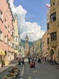 Vipiteno维皮泰诺,南蒂罗尔,意大利老镇  免版税库存照片