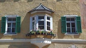 Vipiteno, Bozen Fassade des Tiroler traditionellen Hauses Stockbild