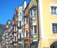 Vipiteno, Bozen Fassade des Tiroler traditionellen Hauses Stockfotos