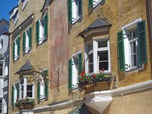 Vipiteno, Bozen Fassade des Tiroler traditionellen Hauses Stockfotografie