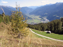 Vipiteno seen from the hill Cavallo Royalty Free Stock Images