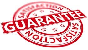 Vippad på garantitillfredsställelsestämpel Arkivbild