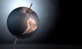 Vippat på världsjordklot Fotografering för Bildbyråer