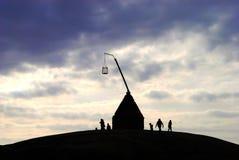 Vippefyr (tippende lantaarn) op het Eind van de Wereld (Verdens Ende) royalty-vrije stock foto