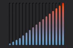 Vippknappar i form av diagram på mörk bakgrund framförande 3d vektor illustrationer