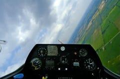 vippning w för cockpitglidflygplanbana Royaltyfria Foton