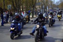 Vippor öppnar ny motorcykelsäsong Arkivfoton