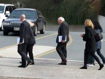 Vips выходя из национального собора в DC Вашингтона стоковая фотография rf