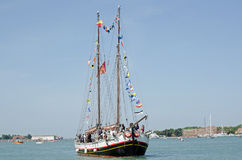 VIPS on Sailing Ship, Venice Royalty Free Stock Image