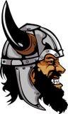Viquingue/logotipo bárbaro da mascote Fotografia de Stock