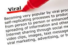 Viraal onderstreept met rode teller Royalty-vrije Stock Afbeelding