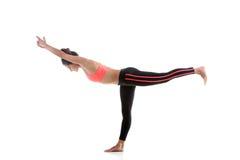 Virabhadrasana 3 de la actitud de la yoga Foto de archivo libre de regalías