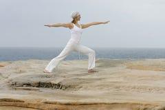 virabhadrasana jogi ii Fotografia Royalty Free