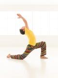 Virabhadrasana posture Stock Images