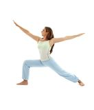 Virabhadrasana warrior pose #3 Stock Photos