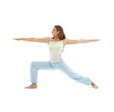Virabhadrasana warrior pose #4 Royalty Free Stock Photo