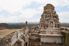 Virabhadratempel, Matanga-Heuvel, Hampi, Karnataka Heilig Centrum Mening van het Westen royalty-vrije stock fotografie