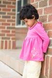 Virado da criança devido a obter o tempo para fora Fotografia de Stock Royalty Free