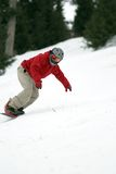 Virage de Snowboarder images stock