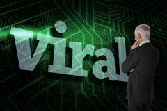 Viral against green and black circuit board Stock Image