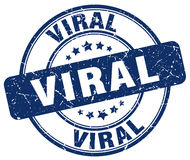 Viral blue grunge stamp Stock Photography