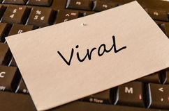 Viral Concept on Keyboard. Viral Concept on black keyboard Stock Photos