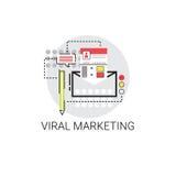 Viral Content Marketing Optimization Icon Stock Photos