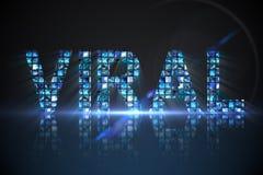 Viral fait d'écrans numériques dans le bleu Images libres de droits