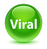 Viral glassy green round button. Viral isolated on glassy green round button abstract illustration Royalty Free Stock Photos