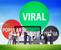 Viral Global Communications Internet Technology Concept Stock Photography
