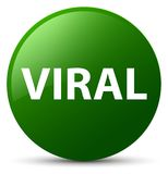 Viral green round button Royalty Free Stock Image