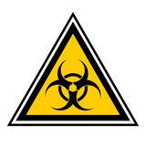 Viral infection. Yellow risk of viral infection Stock Photo