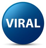Viral blue round button Royalty Free Stock Image