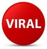 Viral red round button Royalty Free Stock Images