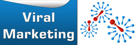 Viral Marketing Blue Horizontal Royalty Free Stock Image