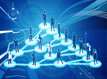 Viral Marketing Business Concept. An illustration of interconnected linked people. A  viral marketing or social networking business concept Royalty Free Stock Images