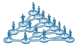 Viral Marketing Business Network Concept. An illustration of interconnected linked business people. A  viral marketing or social networking concept Royalty Free Stock Images
