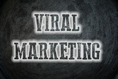 Viral Marketing Concept. Text background blog Stock Image