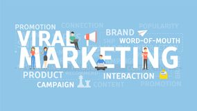 Viral marketing concept. vector illustration