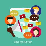 Viral Marketing Conceptual Design Stock Images
