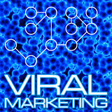 Viral Marketing Diagram. An illustration or diagram demonstrating viral marketing with 3D cells and a flow chart. This image tiles seamlessly as a pattern in any Royalty Free Stock Photography