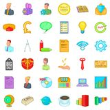 Viral marketing icons set, cartoon style. Viral marketing icons set. Cartoon style of 36 viral marketing vector icons for web  on white background Royalty Free Stock Photography
