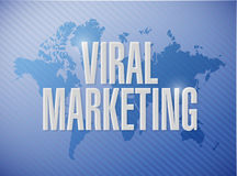 Viral marketing international sign concept Royalty Free Stock Image